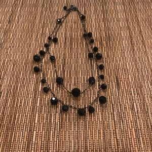 Express Black bead necklace